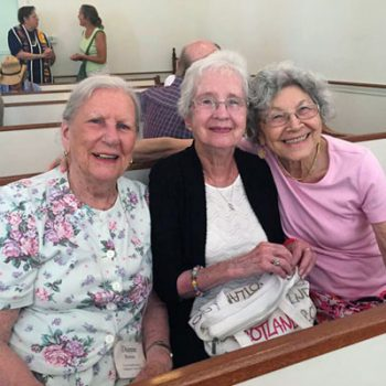 Diane, Shirley and Fatina in Brewster Chapel