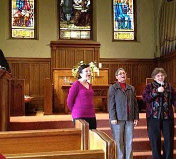 Linda, Deborah, Elaine on Sunday