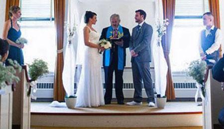 Wedding in Brewster Chapel