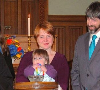 Child Dedication at First Parish Plymouth