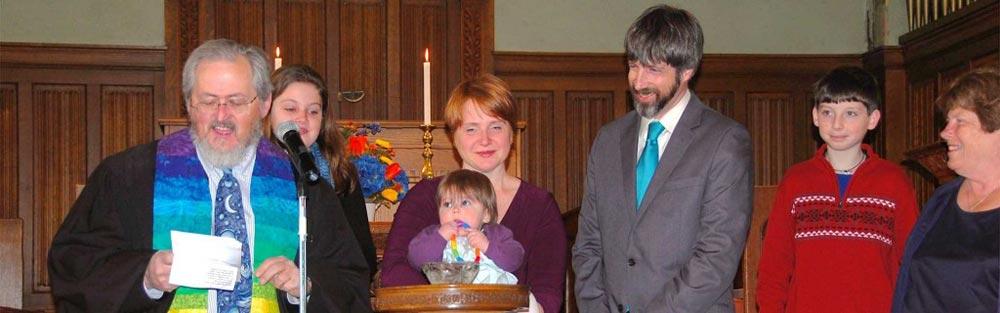 Child Dedication at First Parish Plymouth