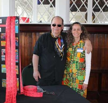 Amy & Rick at our 1970's themed auction