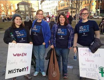 Women's March in Boston 2017