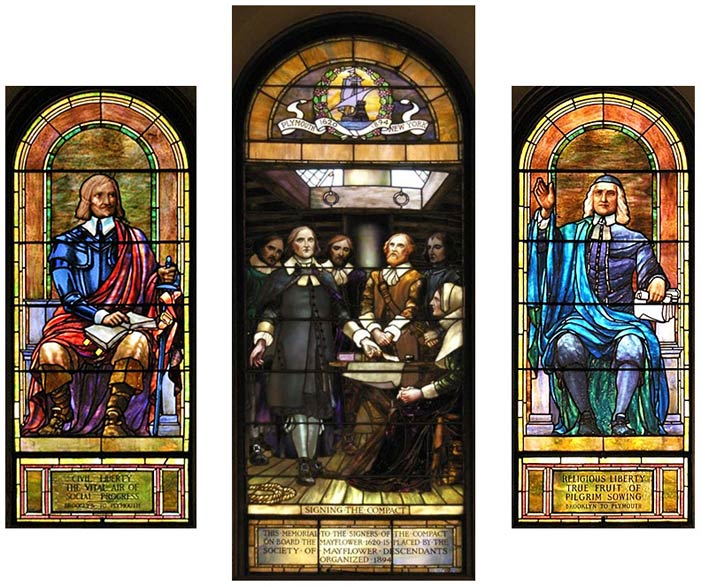 3 sanctuary windows at First Parish